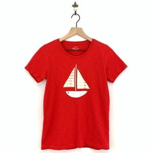 J.Crew Red Sailboat Collector T-Shirt Nautical S